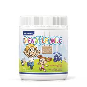 澳洲进口美可卓宝宝牛奶片Maxigenes蓝莓护眼咀嚼片补钙儿童零食