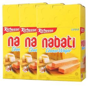 印尼进口 丽芝士nabati纳宝帝奶酪味芝士威化饼干200g*