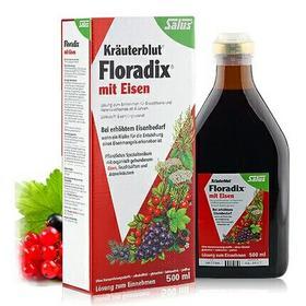 德国红铁Floradix 进口铁元salus女性孕妇补铁补气贫血500ml