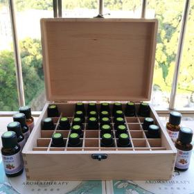 48格精油木箱 木盒 高档胡桃楸木 可放48瓶精油