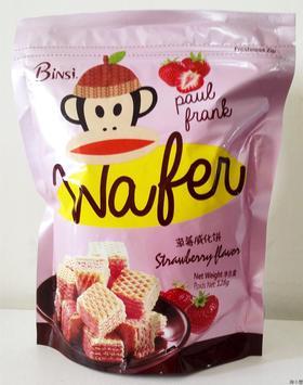 马来西亚进口大嘴猴威化饼干草莓芝士柠檬休闲食品办公室零食