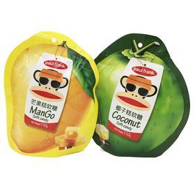 马来西亚进口食品 大嘴猴滨司椰子糕芒果糕软糖 办公室零食110g