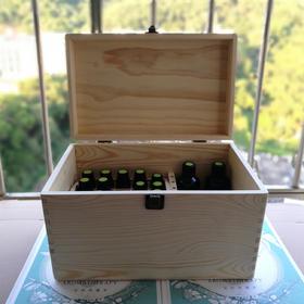 精油木箱 大箱 双层格子 可放非常多精油瓶