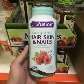 美国直邮 Vitafusion天然头发指甲皮肤胶原蛋白维生素软糖 160粒