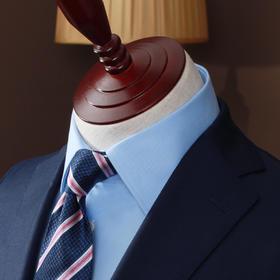 高唯男士高唯白/蓝小斜纹DP成衣全免烫法式/英式衬衫