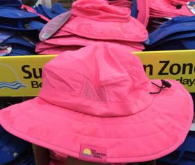 美国直邮Sun protection zone儿童太阳帽防晒帽男女沙滩UPF50