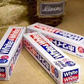 """""""抢""""3支装LION狮王日本原装进口WHITE&WHITE美白牙膏150g亮白口气清新护理"""