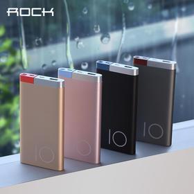 【苹果+安卓双输入口】ROCK 奥丁聚合物10000毫安/5000毫安移动电源 充电宝 苹果安卓通用