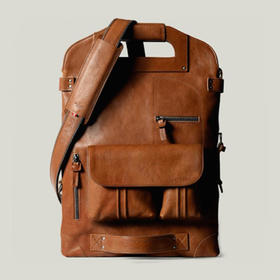 Hardgraft 7 种用法超神奇单双肩手拿包|褐色(英国)