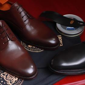 男士二接德比内缝正装皮鞋