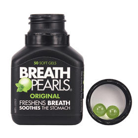 「约会神器 ~必备」澳洲Breath Pearls清新口气珠 新增黄金升级版!无添加草本精华