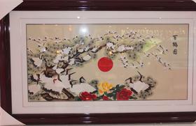 百鹤图(刺绣)