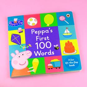 """【2-6岁】6岁前必会 100 个英语单词!Peppa Pig 英文正版图解""""翻翻""""词典!独家首发!"""