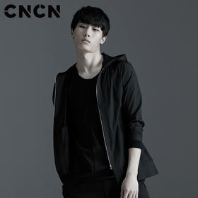 CNCN男士潮流连帽衬衫 男青年薄款长袖衬衣CNAC30201