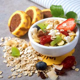 轻食生活 水果谷物麦片 400g/罐 3分钟即食吃掉12种营养健康不怕胖,即食/冲饮皆可