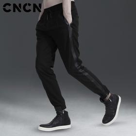 CNCN男装 春季潮流休闲男裤 青年束脚裤男小脚裤 CNAK31001