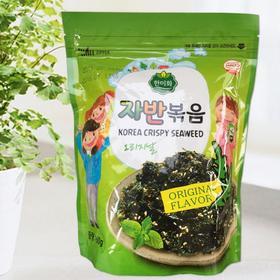 【3袋装】韩美禾炒海苔原味60g*3袋 休闲零食海味即食儿童海苔