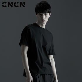 CNCN男装 2017夏季新品短袖修身潮t恤 男士个性暗黑T恤 CNBT21503