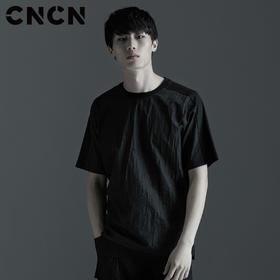 CNCN男装 2017夏季新款男士短袖T恤 圆领透气青年宽松体恤CNBX21504