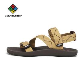 8264 情侣款沙滩鞋女凉鞋度假百搭新款韩版男士织带海边休闲鞋
