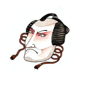 原创图 | 日式传统纹身武士面具 by 纹身师 K