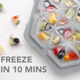 【急冻体验 即冻即享无需等待】台湾THAT!奇想急冻盒 随时随地制冰|取冰轻松|食品级硅胶
