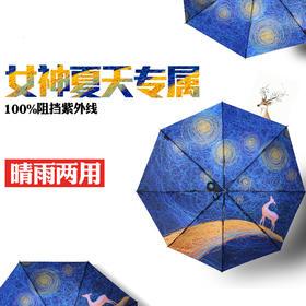 realbrella锐乐鹿寒晴雨伞两用折叠女神创意防晒防紫外线太阳伞
