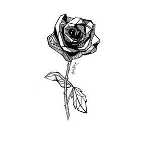 原创图 | 几何玫瑰 by 七哥