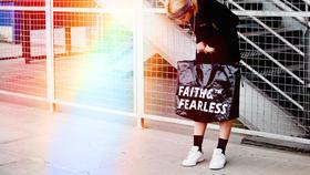 FAITH AND FEARLESS 编织包