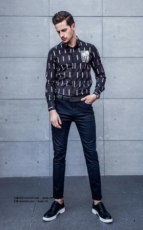长袖衬衫:M701DC1006¥499; 长裤:M609HC1087¥799