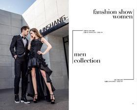 长袖外套:高级定制款——; 长袖衬衣:M608DC1043¥399; 长裤:高级定制款——; 礼服裙:B701TD0018¥5,999