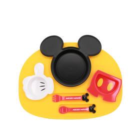 锦化成迪士尼米妮米奇款婴儿儿童叉勺碗宝宝餐盘儿童餐具