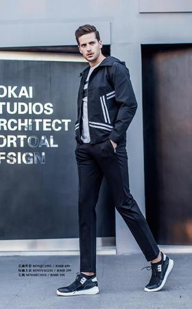 长袖外套:M701JC1003¥699; 短袖上衣:M703VA1210¥299 ;长裤:M701HC1010¥599