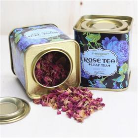 【巴基斯坦进口】优质重瓣玫瑰花茶 不含叶片 特级罐装(0元购)