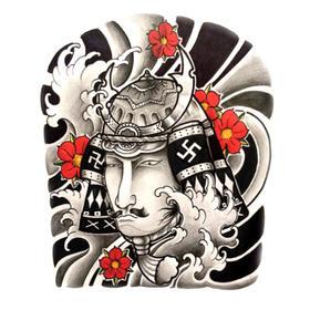 原创图 | 日式传统纹身武士 by 纹身师 K