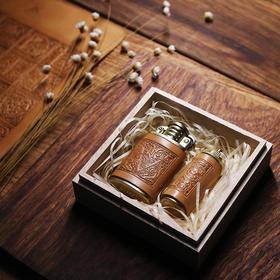两针一线打火机煤油充气铜制复古男女送礼礼品
