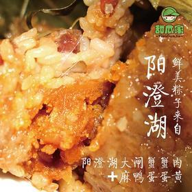阳澄湖蟹肉蛋黄粽 粽子 咸粽 肉粽 每箱8个/120g  顺丰包邮