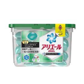 日本P&G宝洁全效杀菌去污凝珠消臭柔软洗衣球自然清新绿色18个