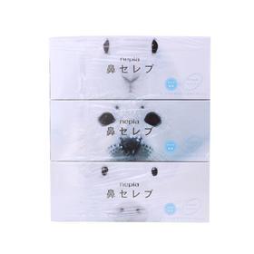 日本原装妮飘面纸 鼻子贵族超柔软纸巾包 鼻敏感纸巾200抽*3盒