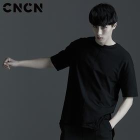 CNCN男装 夏季新款男士圆领修身T恤 暗黑简约百搭t恤 CNBT20911