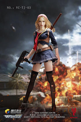 威酷模玩:1/6腾讯游戏《全民突击》第三弹 - 刀锋少女