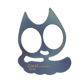 酷友 CooYoo Cocat Ti 钛合金酷猫 随身钥匙扣 超酷迷你扣件 烤蓝喷砂石洗可选 坚不可摧