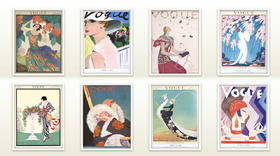 VOGUE百年经典插画海报(八款)包邮