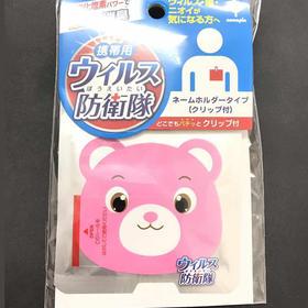 日本Air Doctor防卫队儿童除菌卡CIO2去烟非口罩净化空气防雾霾 粉小熊