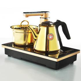 无线全自动304食品级金色双头电磁炉 自动上水茶具套装 泡茶电磁炉三合一