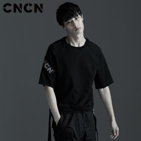 CNCN男装 夏季男潮牌短袖T恤 品牌LOGO字母T恤 宽松薄款CNBT29040