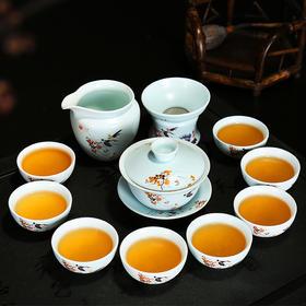 粉彩手绘  整套茶具手绘茶具功夫茶具套组礼盒包装