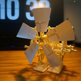 【正版引进】风力仿生双脚机器人 益智玩具 附《大人的科学》详细讲解杂志(杂志+益智组装玩具套装)风力仿生兽升级版