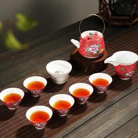 香自吟扒花茶具套组壶盖碗茶具套组礼盒包装茶具套装整套红茶家用喝茶陶瓷功夫茶杯茶海茶壶