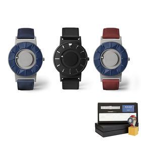 【520专属丨顺丰包邮】美国EONE The Bradley磁力触感手表礼盒套装|蓝&红&黑 触摸感知时间|简约时尚|瑞士石英机芯|钛金属表壳